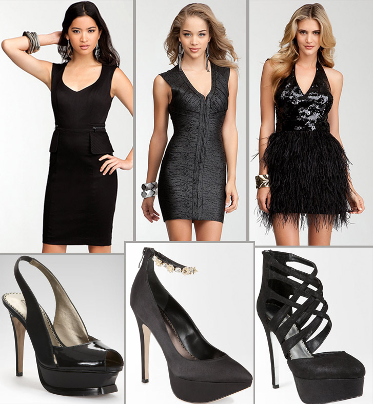 What Shoes to Wear with Black Cocktail Dress