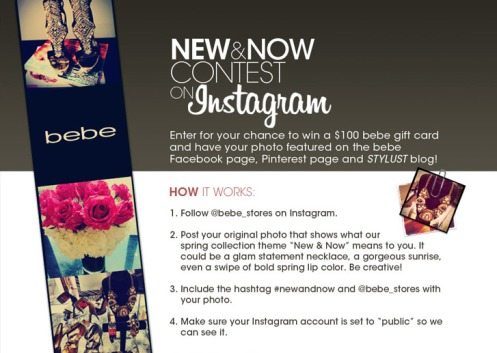 New & Now Instagram Contest!