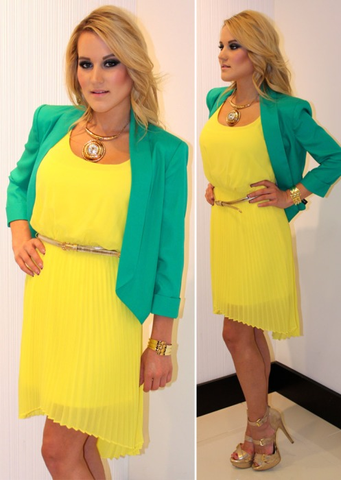 STYLUST-bebe-March-Madness-Green-and-Yellow