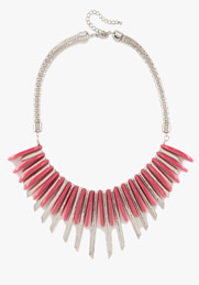 pink bebe statement necklace