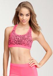 pink bebe sports bra