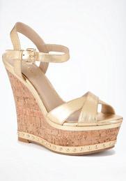bebe gold studded sandal