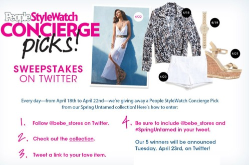 People StyleWatch + bebe Daily Giveaway!