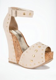 bebe studded wedge