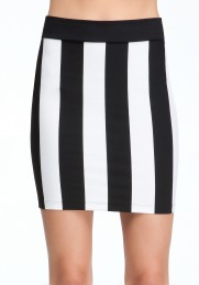 bebe striped skirt