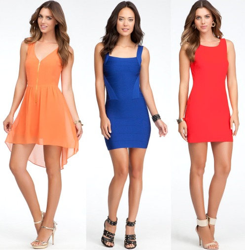 bebe-color-dresses