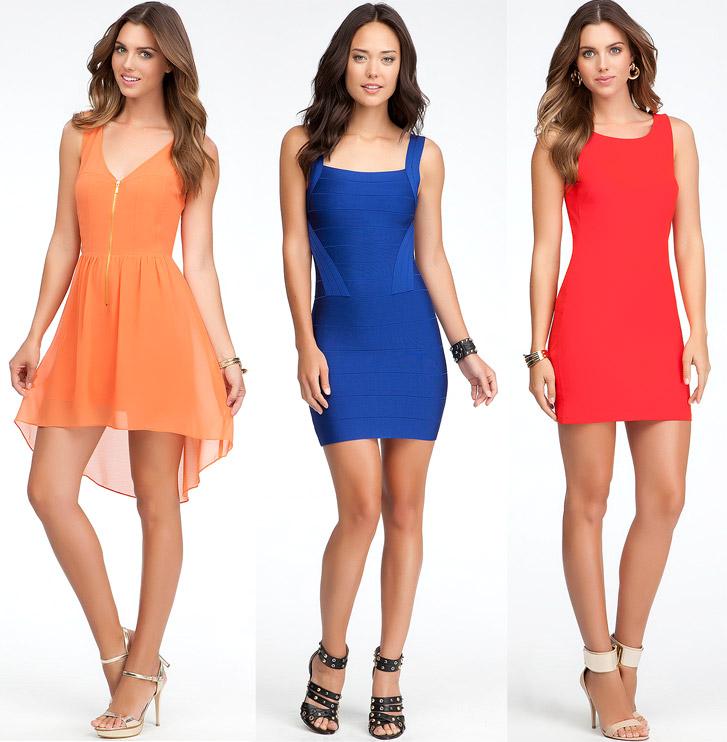 bebe-color-dresses
