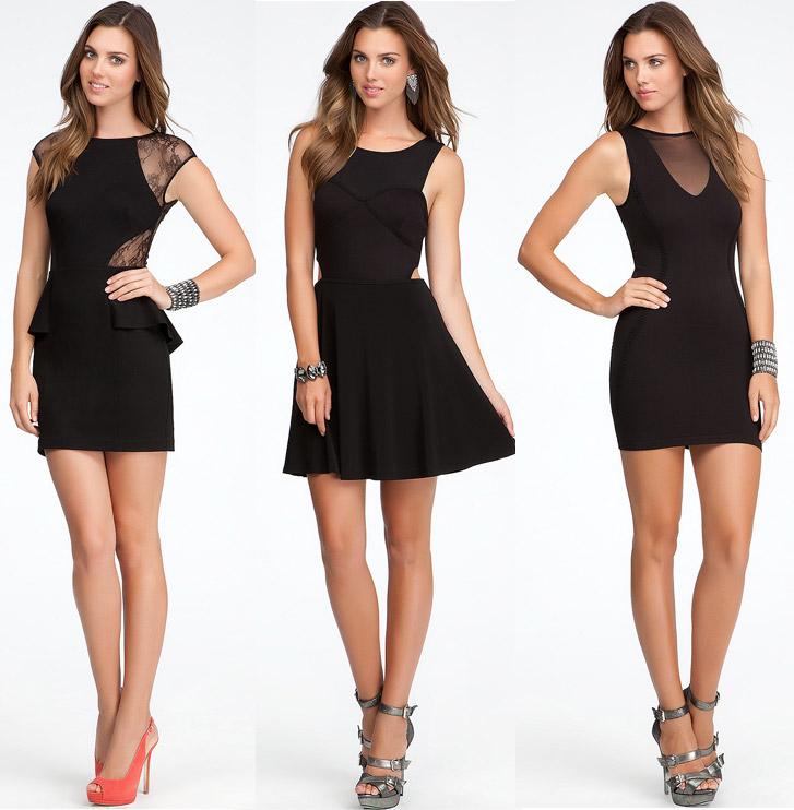 Повседневные черные платья